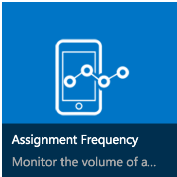 Screenshot showing Assignment Frequency icon link