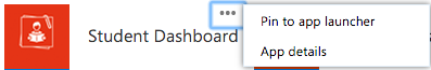 Screenshot of Student Dashboard being pinned to Waffle