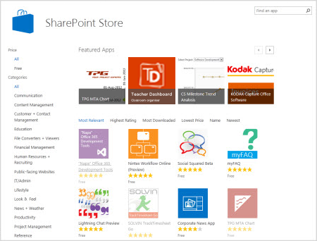 Screenshot of Teacher Dashboard 365 in the SharePoint store